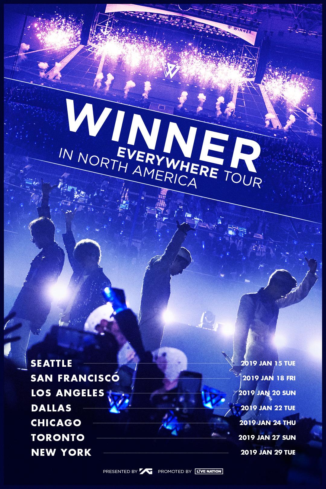 WINNER tour poster